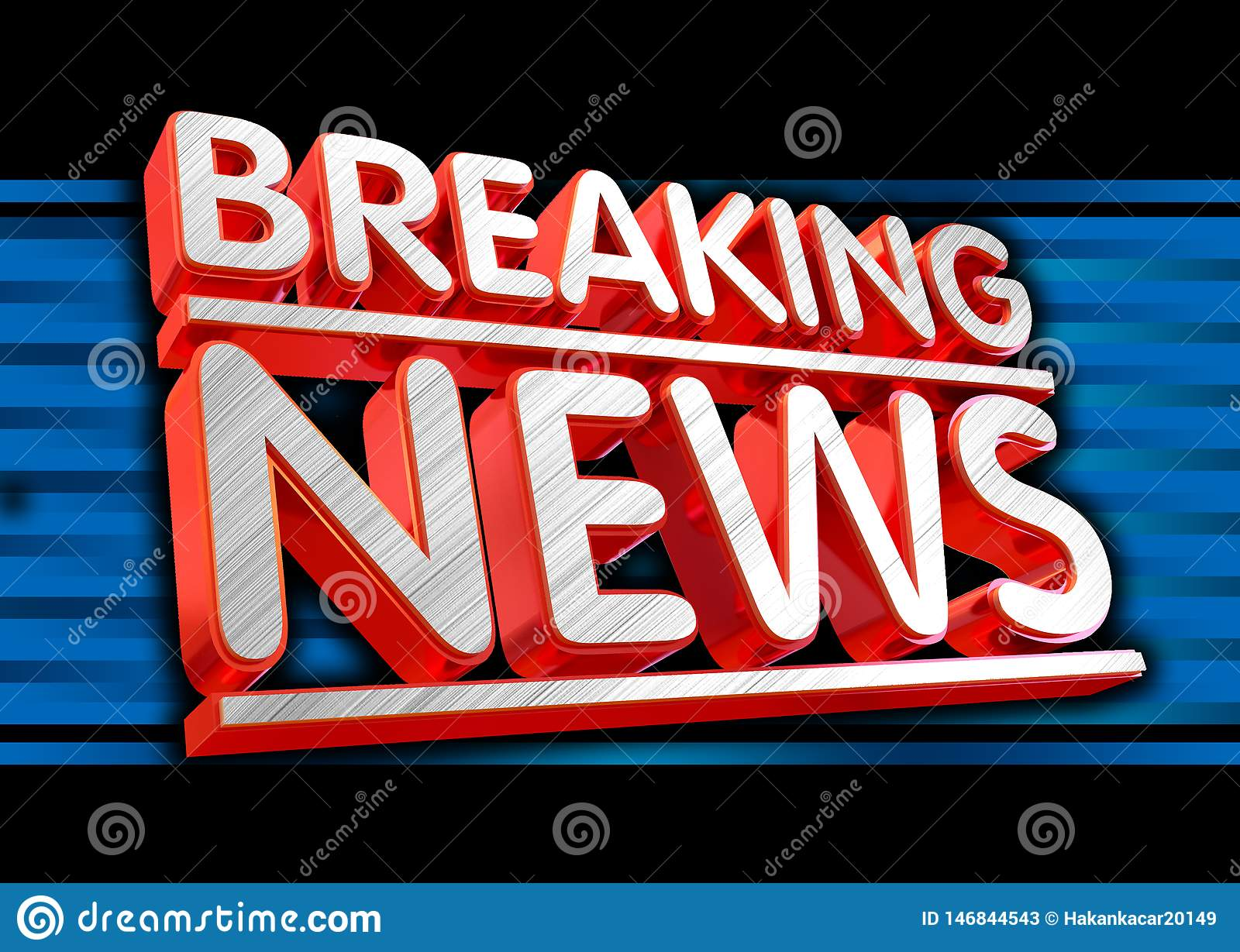 breaking news live on business technology news background.