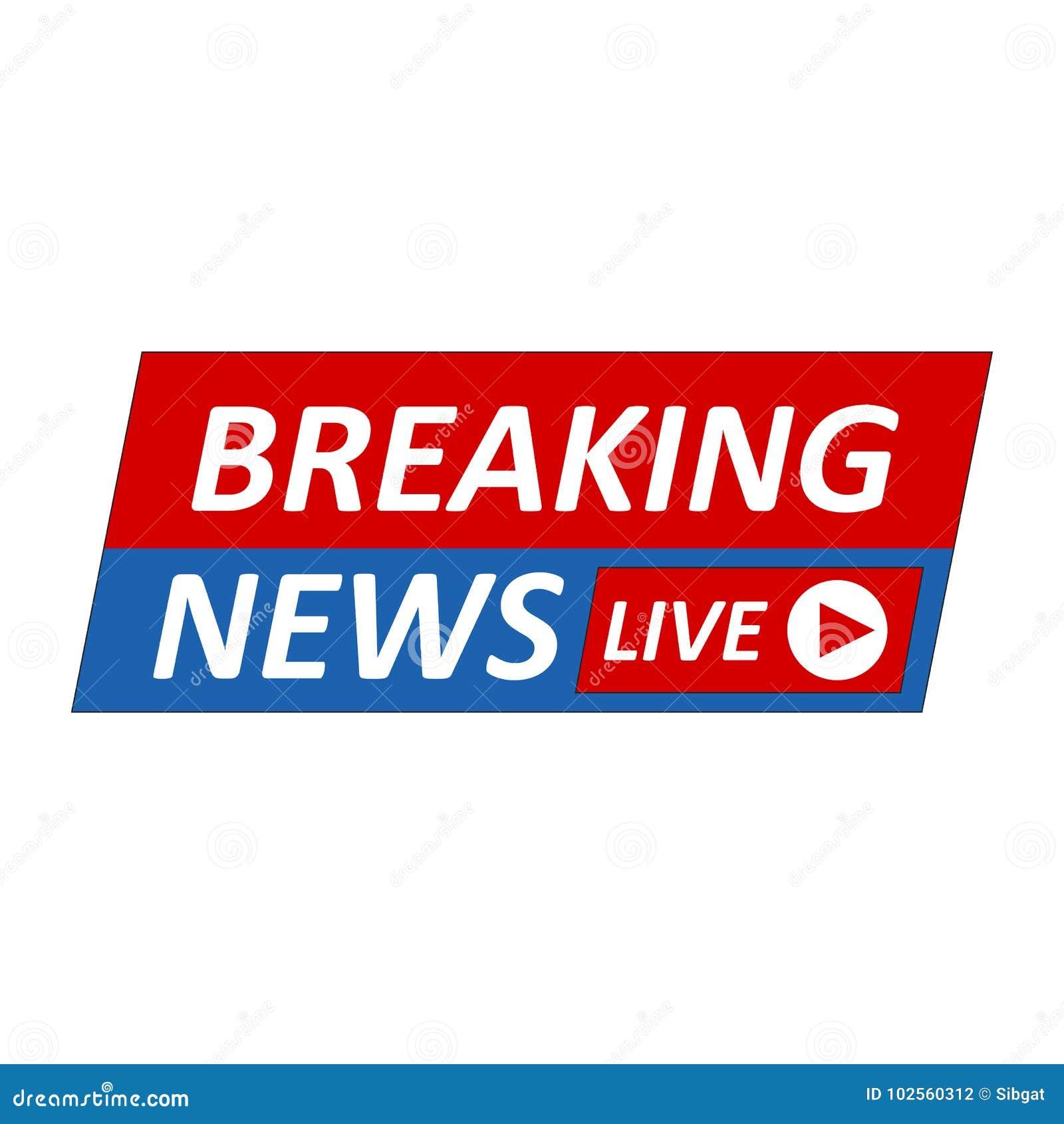 Breaking News Logo Live BannerTV Mass Media Design Blue Headline