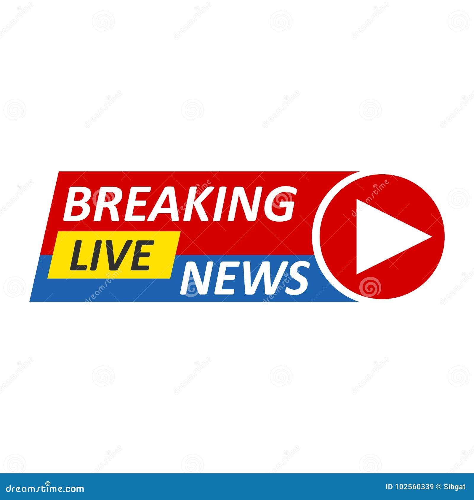 Breaking News Logo Live BannerTV Mass Media Design Network Graphic