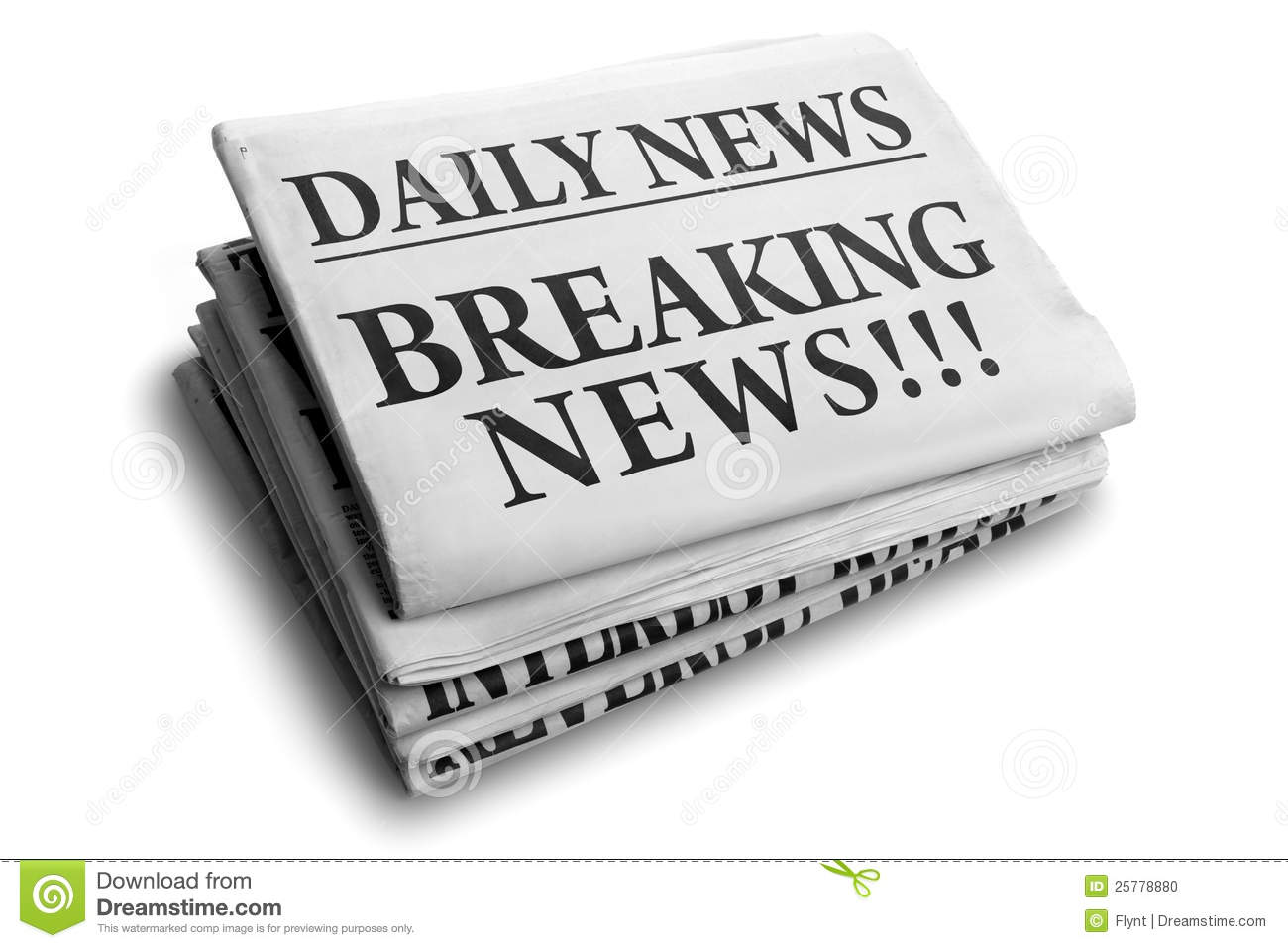 breaking news daily newspaper headline stock photo 25778880 - megapixl