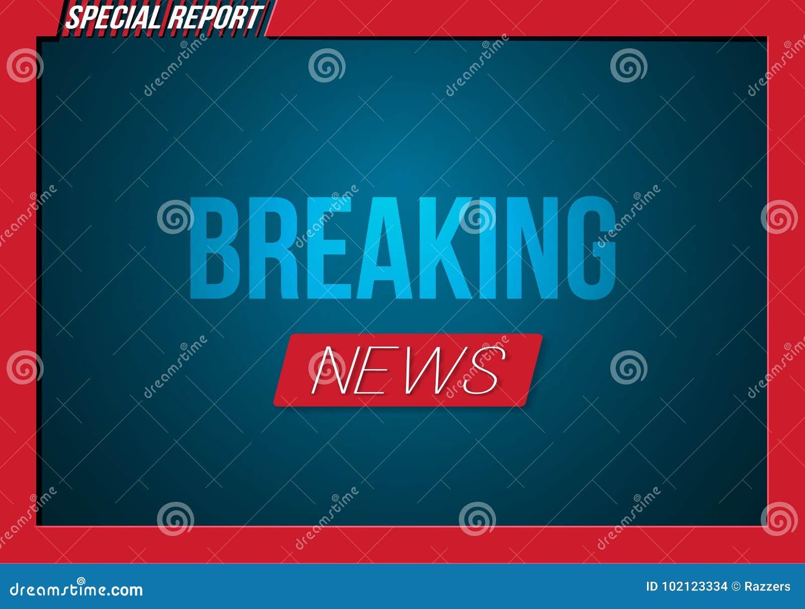 breaking news opening scene vector broadcast breaking news banner