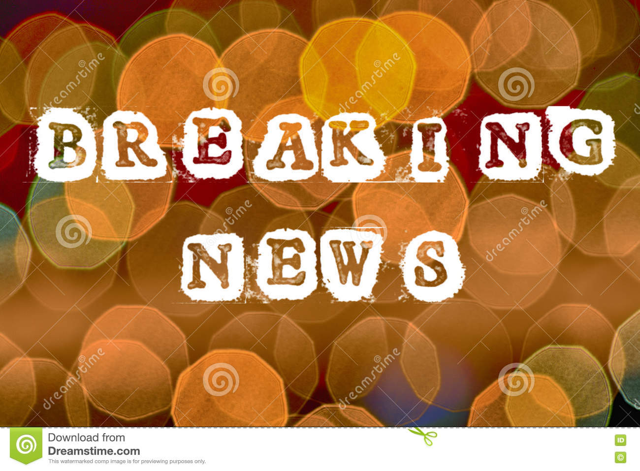 Breaking news stock illustration  Illustration of media