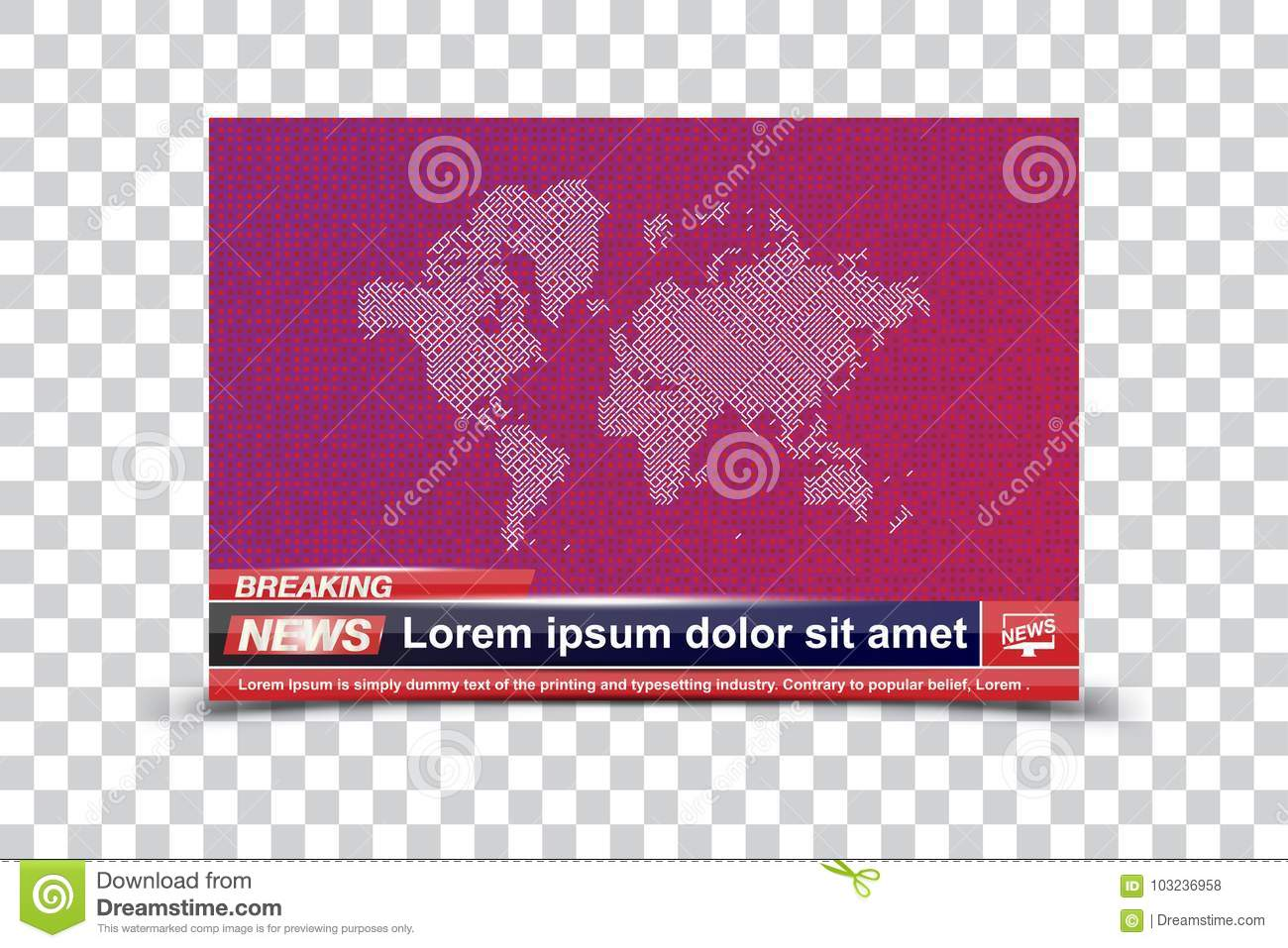 Breaking News Templates Title On Colour Background For Screen Tv