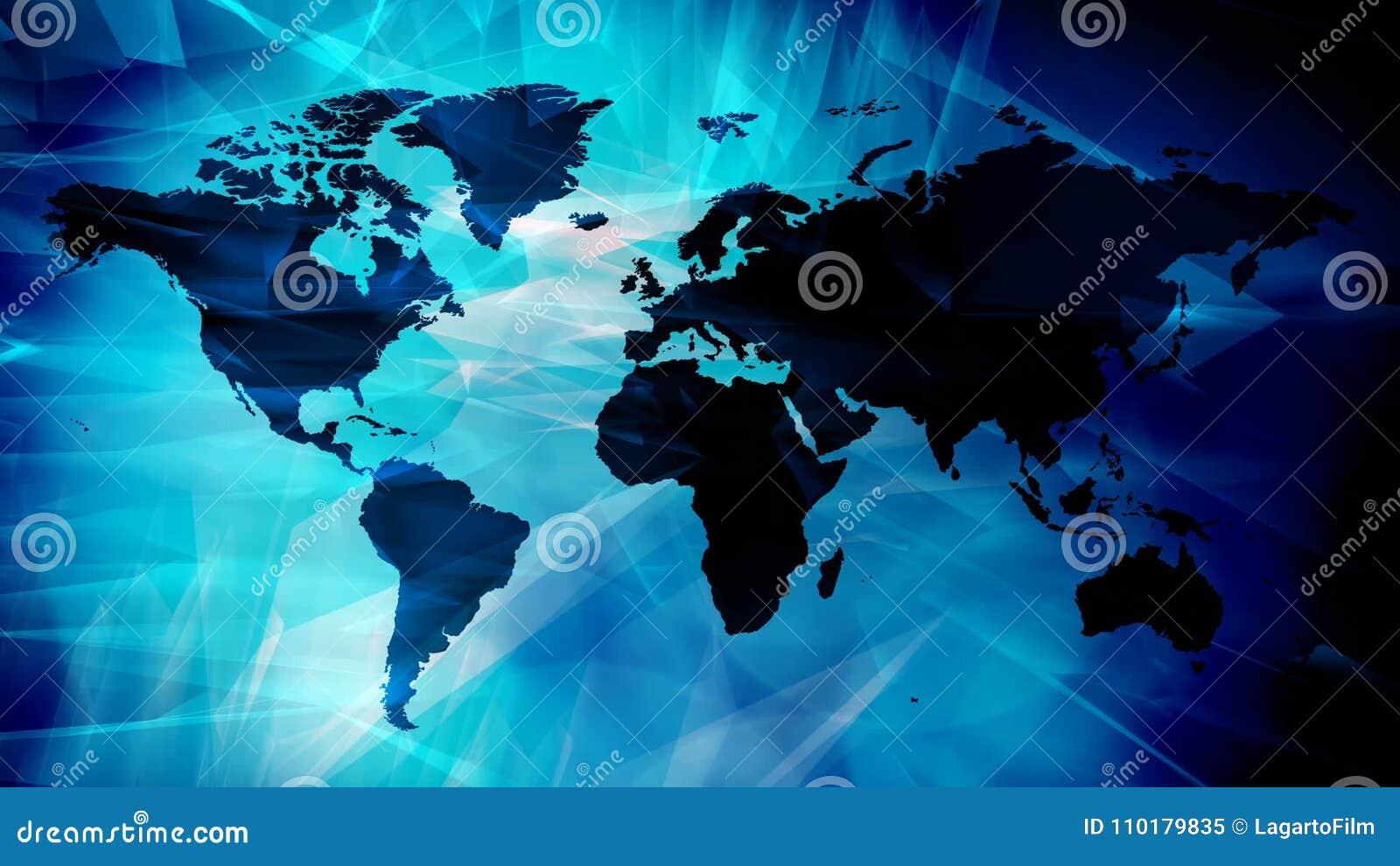 International Business Animated Wallpaper Stock Video