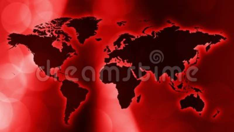 International Red Intro News Animated Wallpaper Stock Video