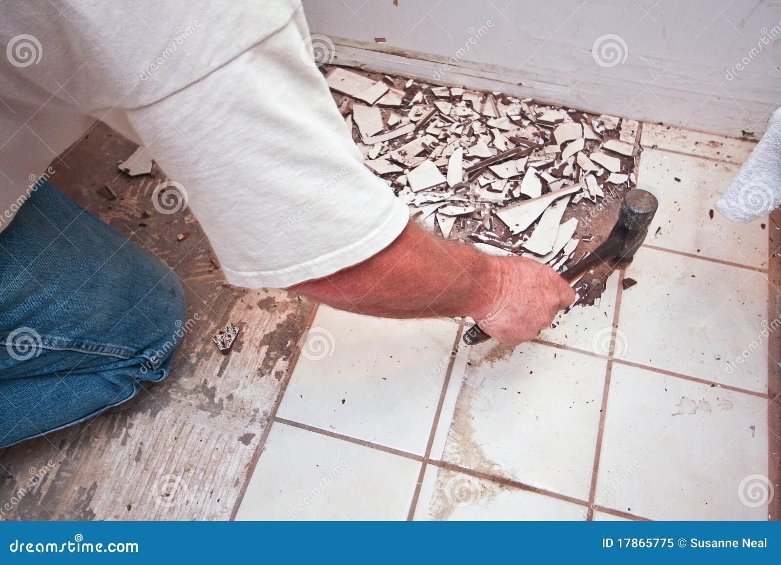 Breaking Up Floor Tiles