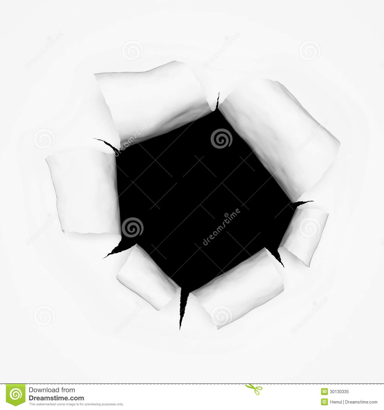 Breakthrough paper hole 3d stock illustration image of for 3d sketch online free