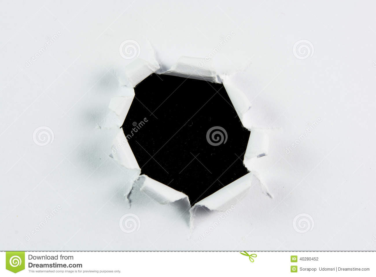 Black Hole In Paper Stock Photography | CartoonDealer.com ...