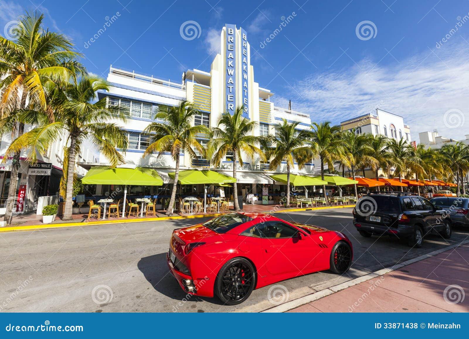 breakwater hotel located at ocean editorial stock photo