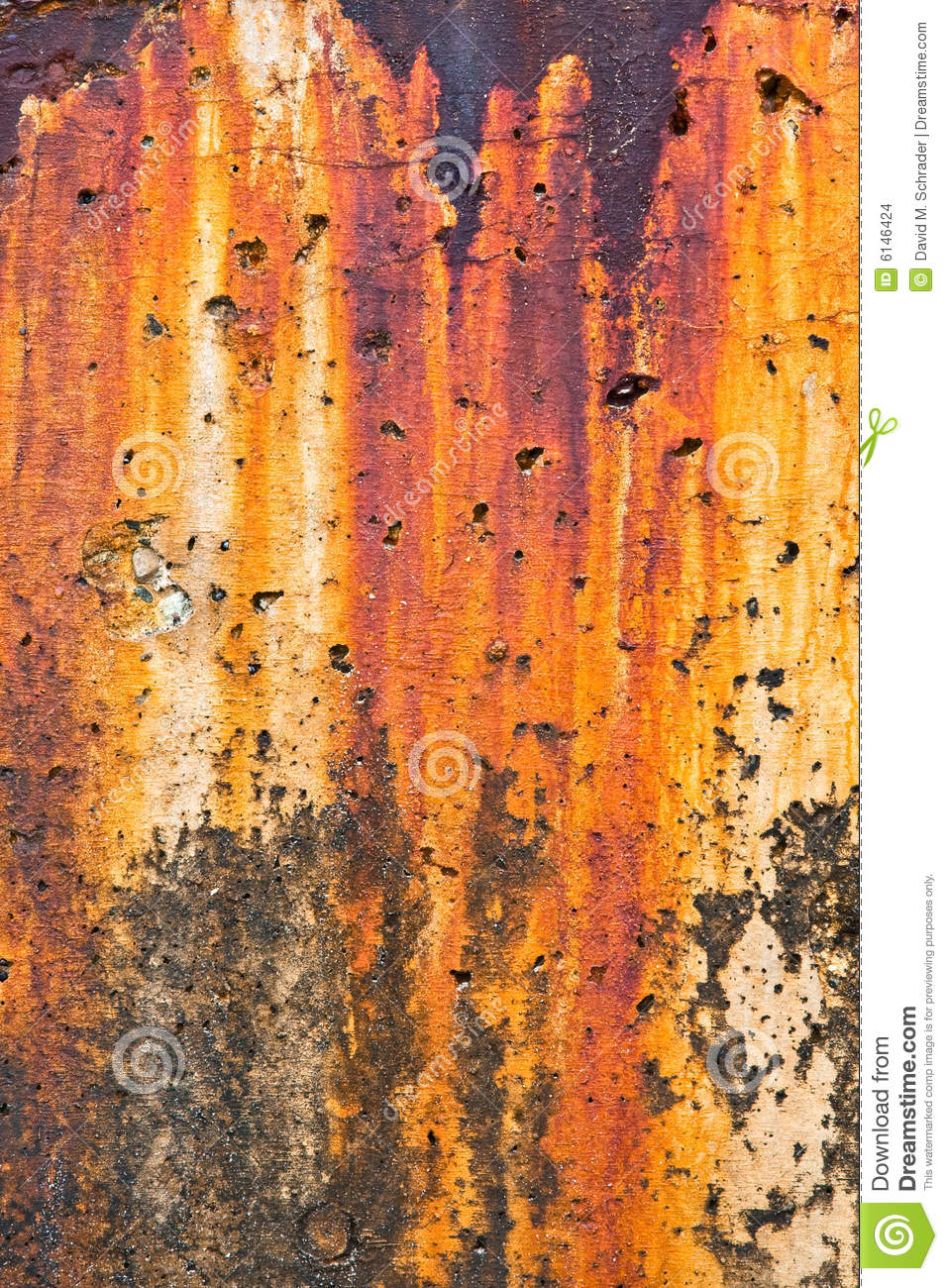 Breakwater Rust Stains Stock Images Image 6146424
