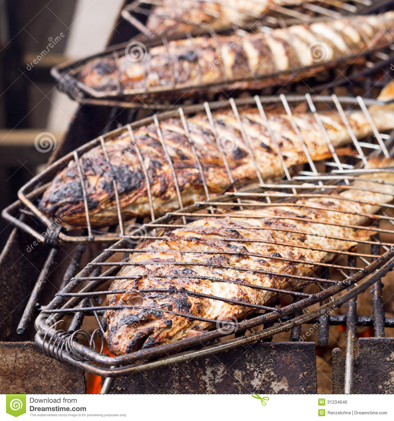 Bream classic grilled royalty free stock image image for Sea salt fish grill
