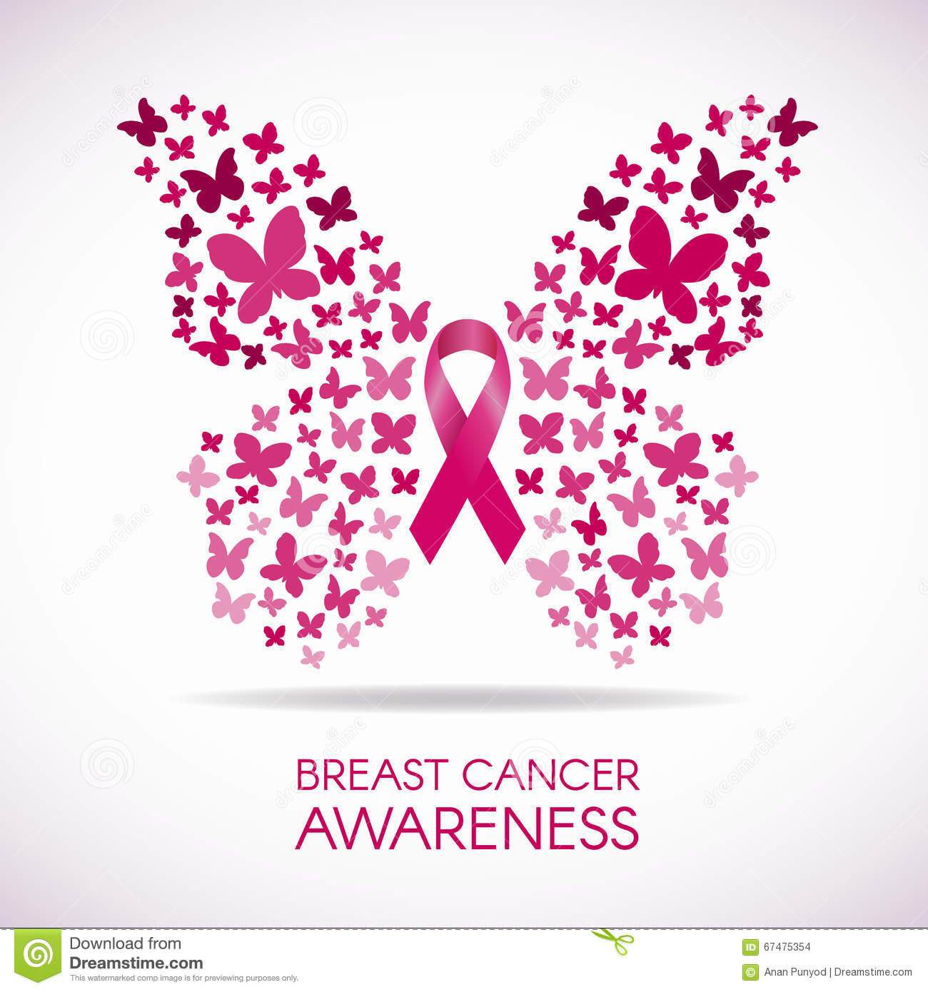 Breast cancer awareness illustrations