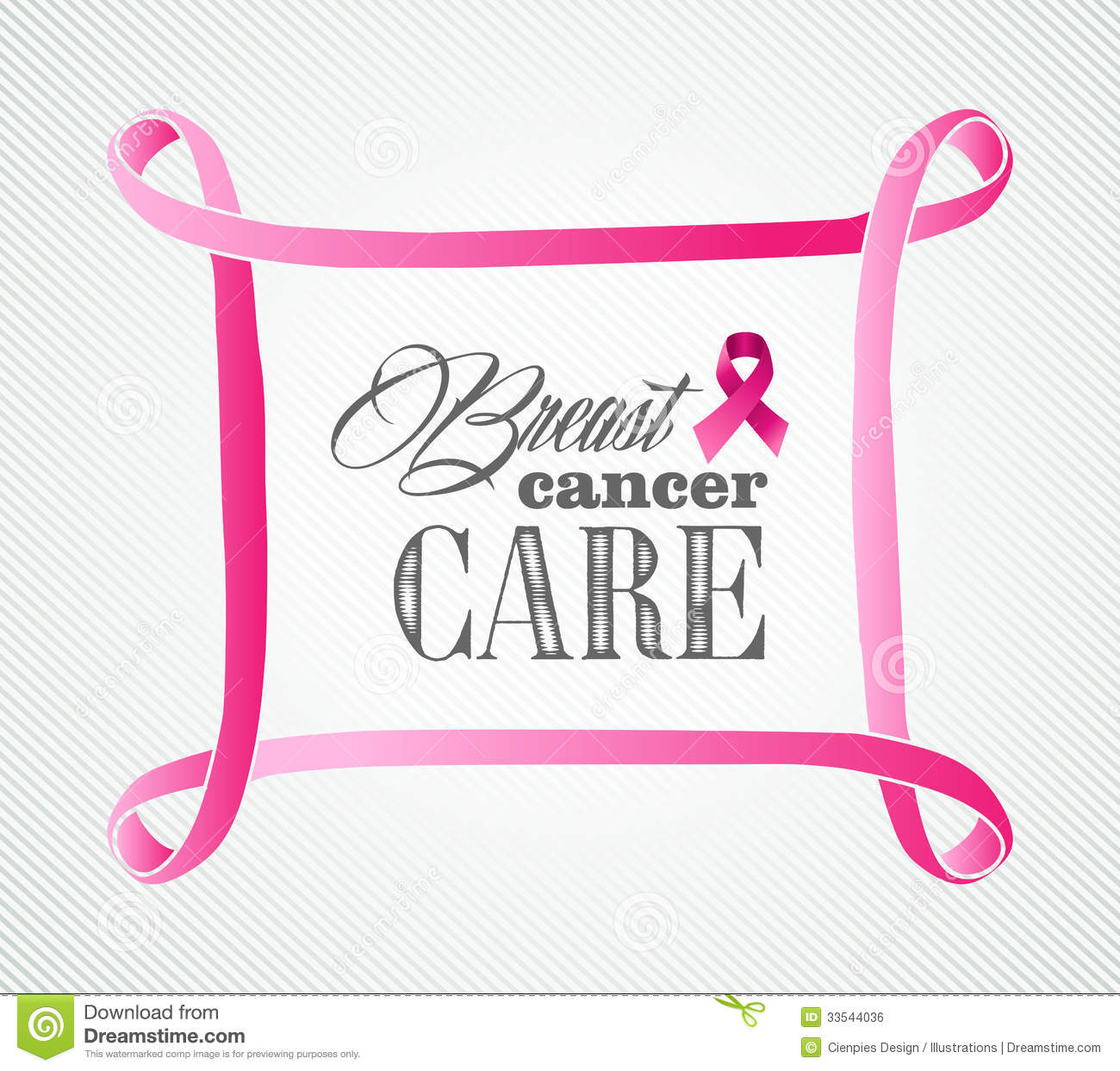 Breast Cancer Awareness Concept Frame Illustration Stock Vector
