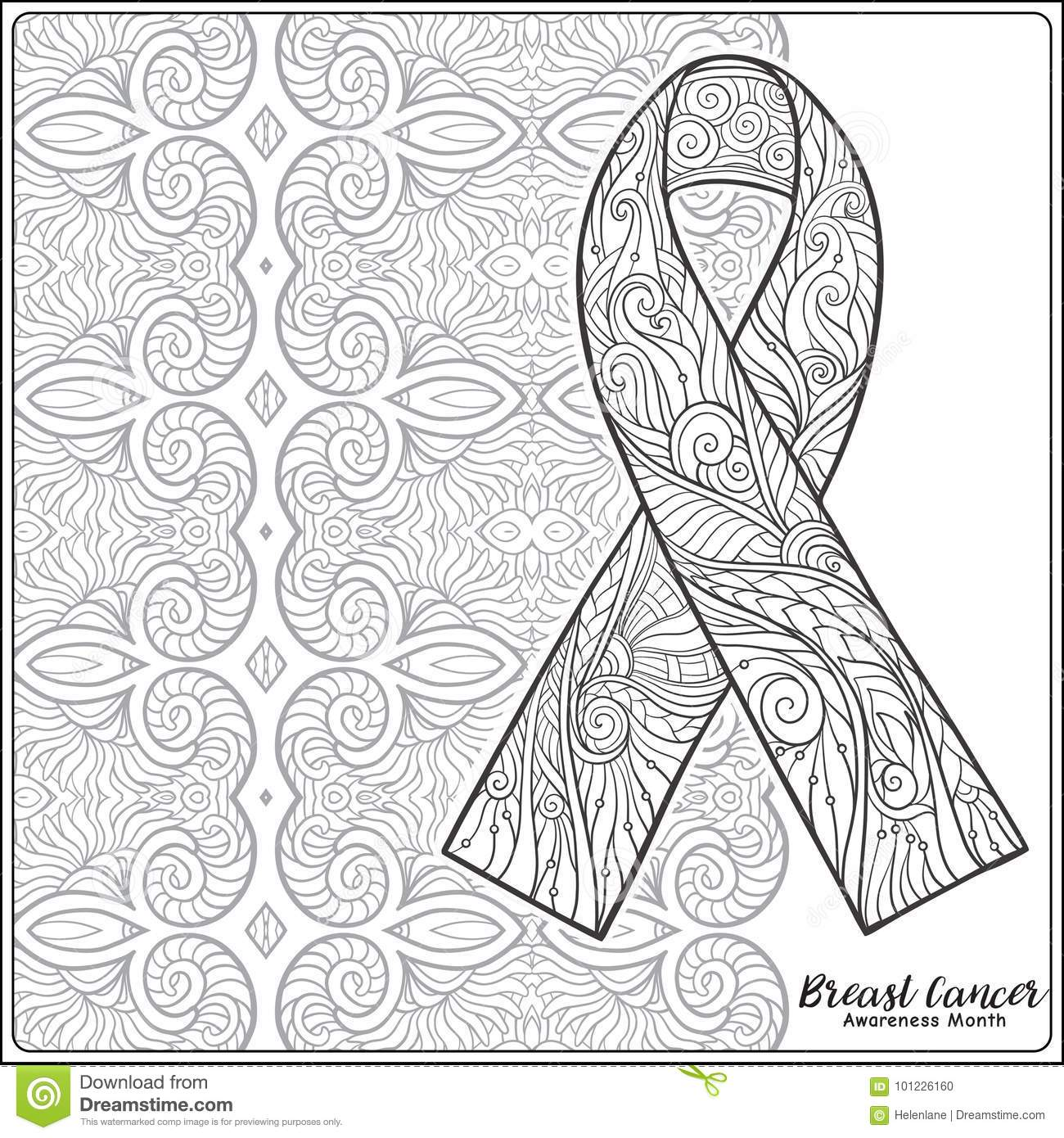 Breast Cancer Awareness Month Decorative Pink Ribbon On Decorati Stock Vector Illustration Of Book Illness 101226160