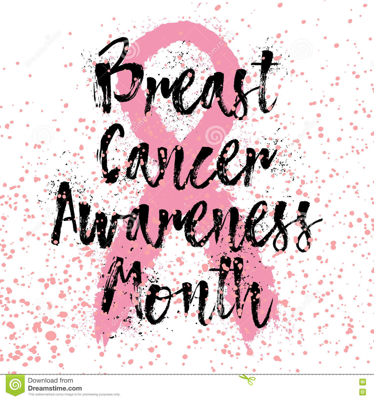 T Cancer Awareness Quotes | Breast Cancer Awareness Month Sign Quote Hand Lettering Stock