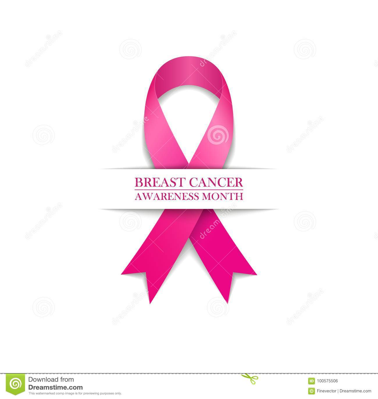 Breast cancer awareness month symbol pink ribbon on white breast cancer awareness month symbol pink ribbon on white background biocorpaavc Choice Image