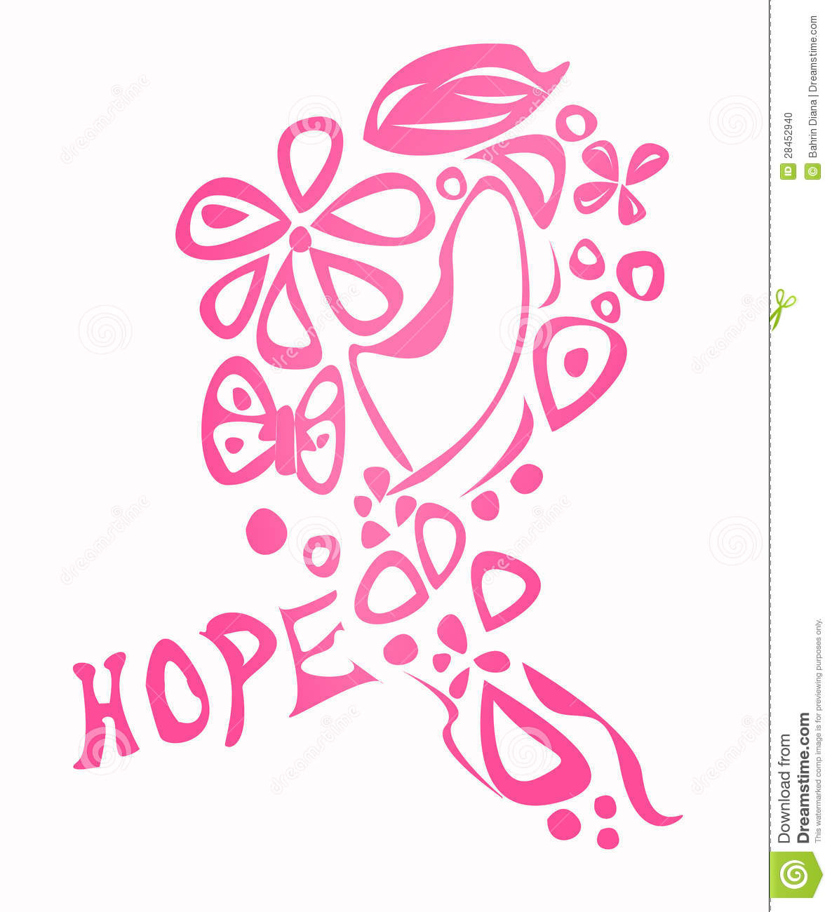 Breast Cancer Awareness Ribbon Stock Illustration Illustration Of