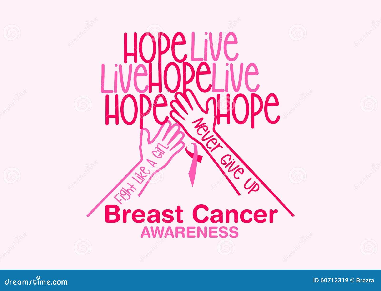 Breast cancer awareness vector design