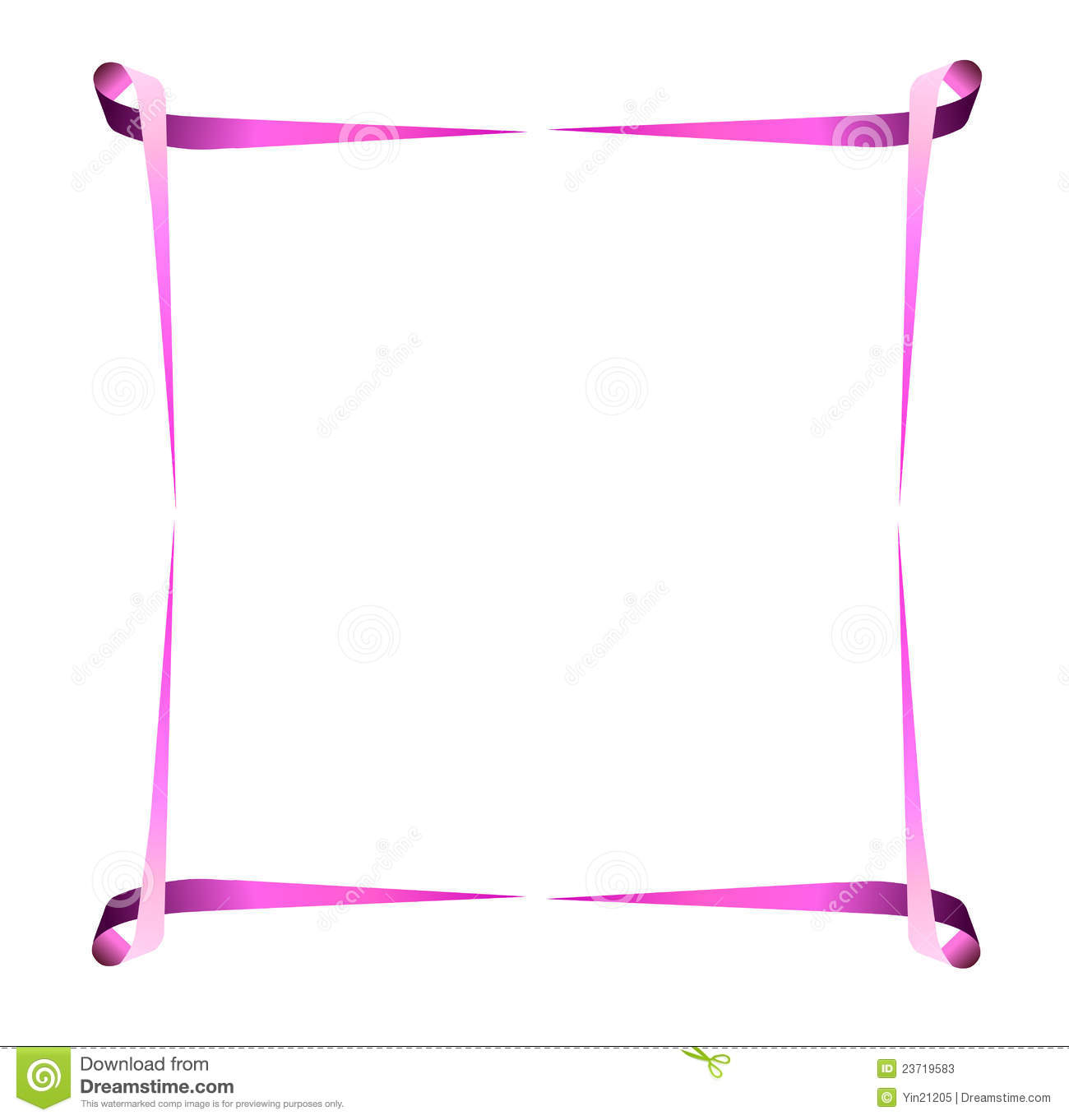 Illustrated breast cancer border with pink ribbons.eps file is ...
