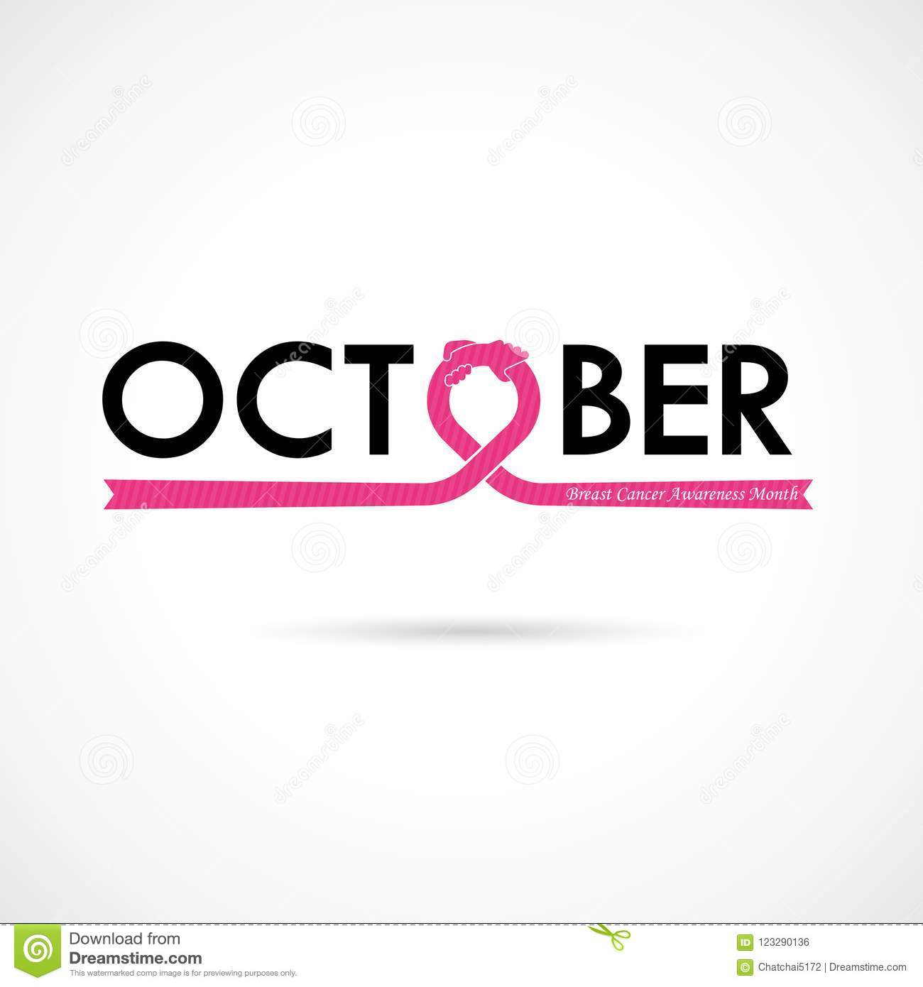 breast cancer october awareness month typographical campaign bac