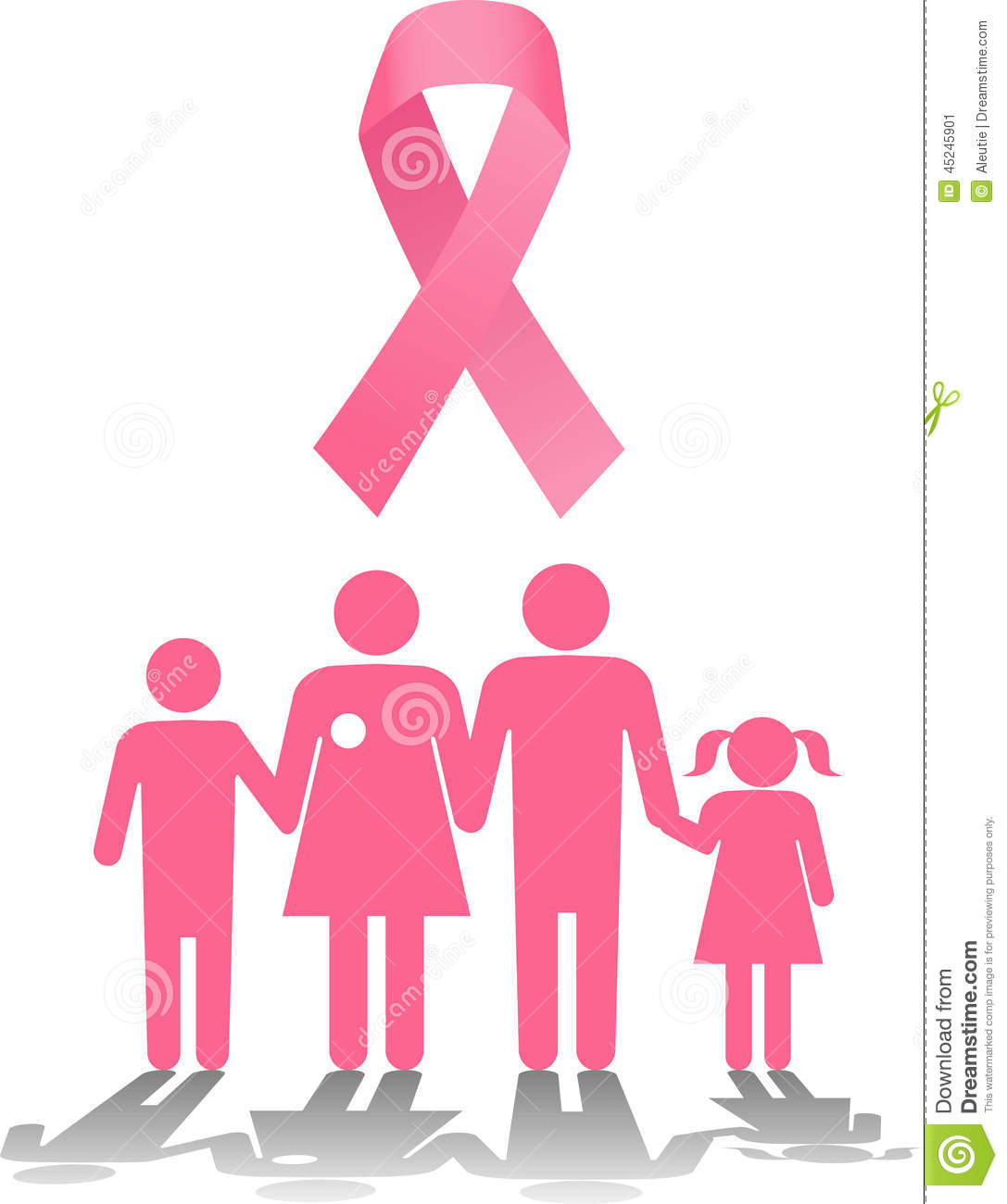 Breast cancer survival family support stock vector illustration breast cancer survival family support buycottarizona