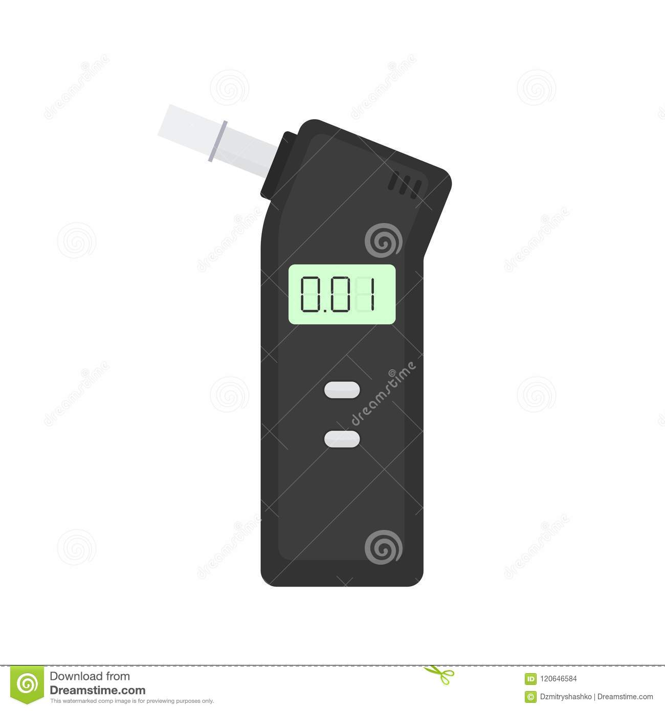 Breath Alcohol Tester Safety Clipart Isolated On White Background