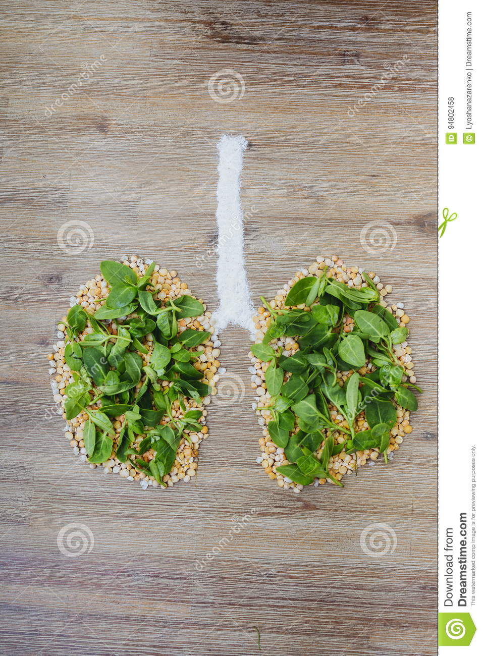 Breathing Clean Air, Saving The Planet Concept Stock Photo
