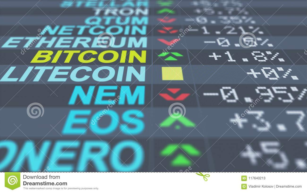 Risky Crypto Currency Electronic Market Stock Illustration