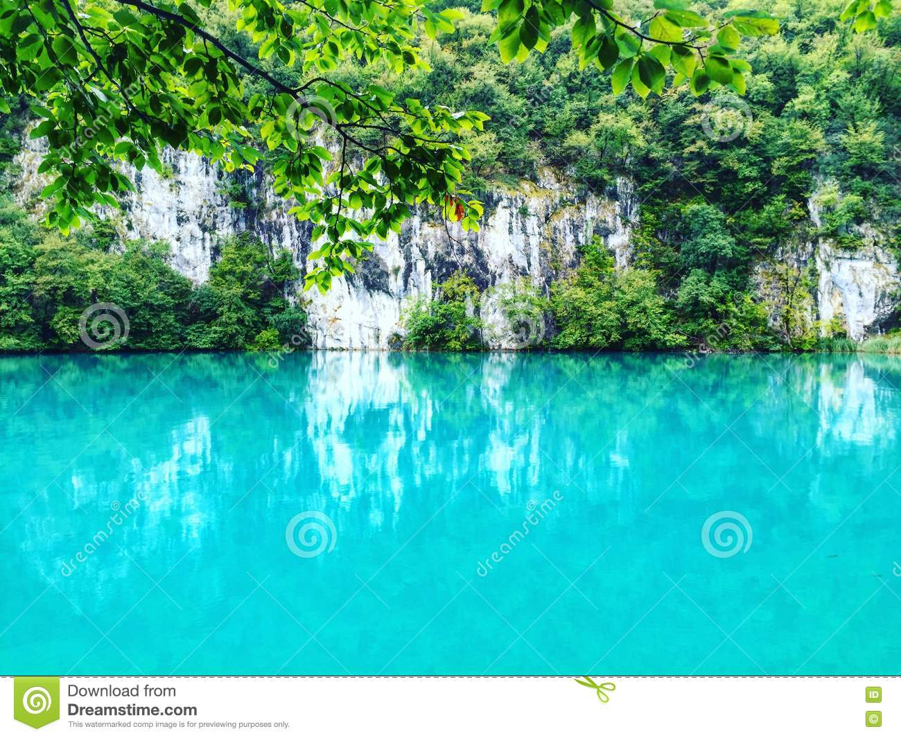 Breathtaking scene of Plitvice lake,national park of Croatia. Listed on UNESCO world heritage.