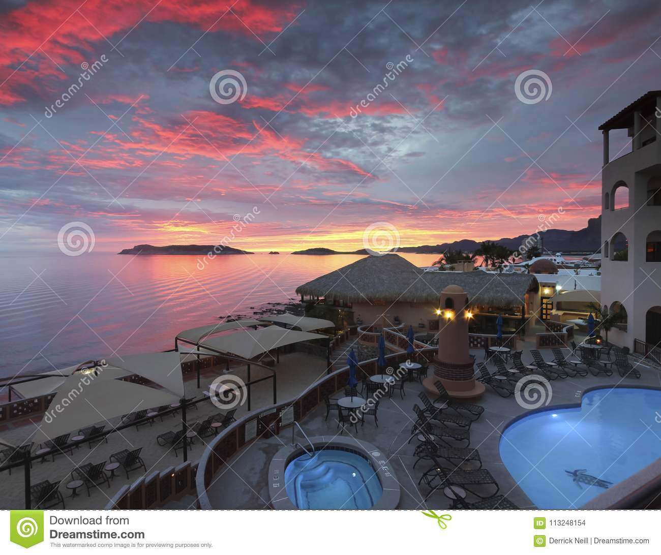 brand new a5e88 a3d9b SAN CARLOS, MEXICO, MARCH 15. The Sea of Cortez Beach Club on March 15,  2018, in San Carlos, Mexico. A Breathtaking Sunset at the Sea of Cortez  Beach Club ...