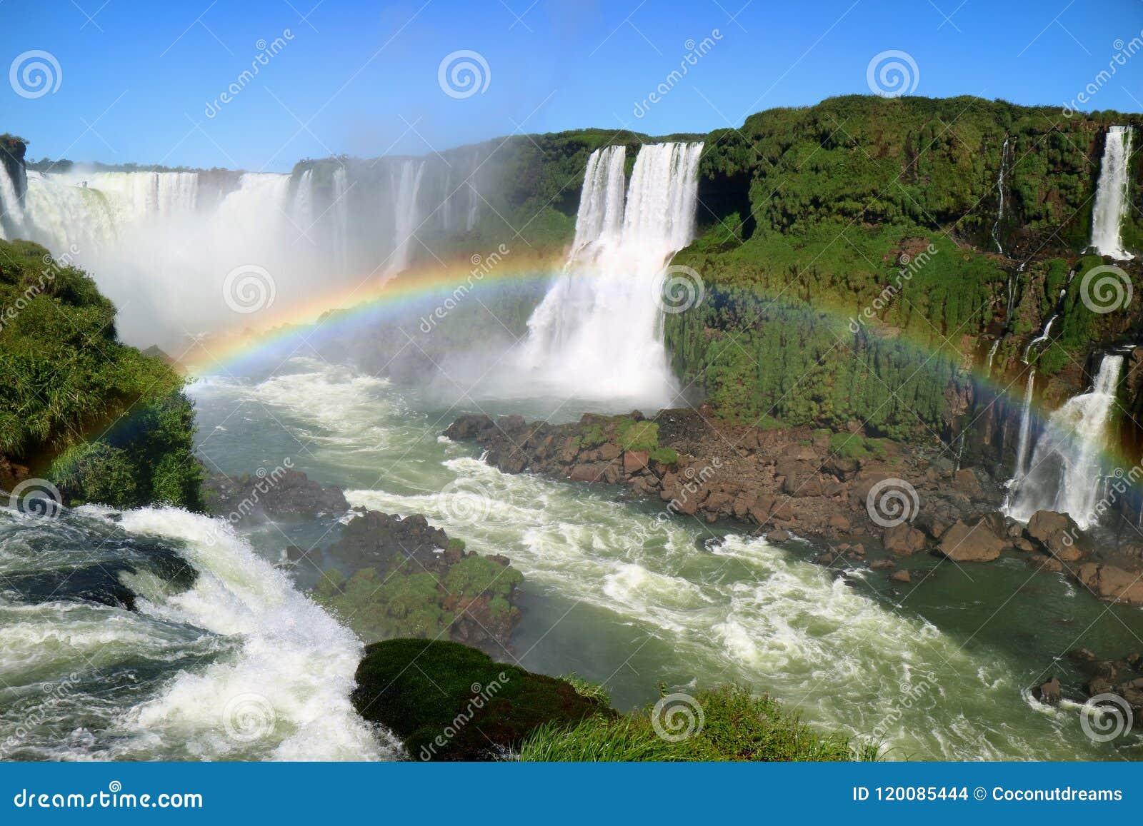 Breathtaking View Of Devils Throat Area Of Iguazu Falls Unesco