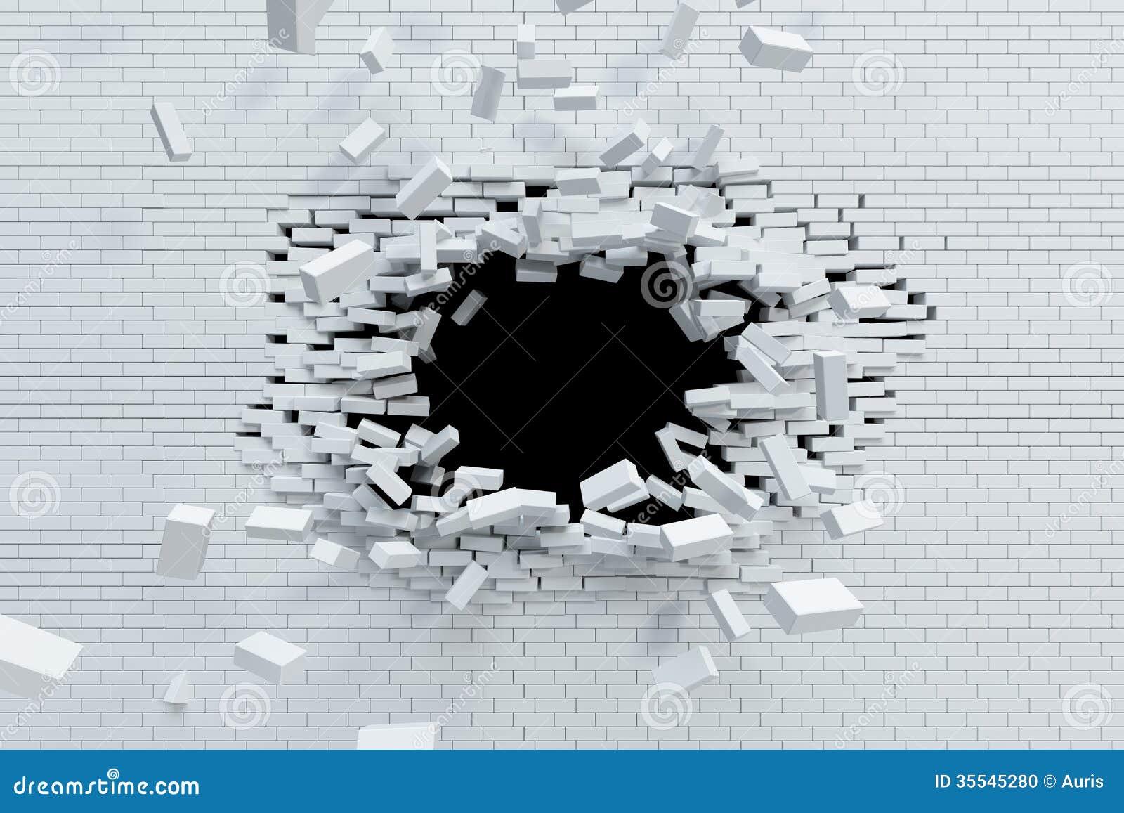 Brechen der Backsteinmauer