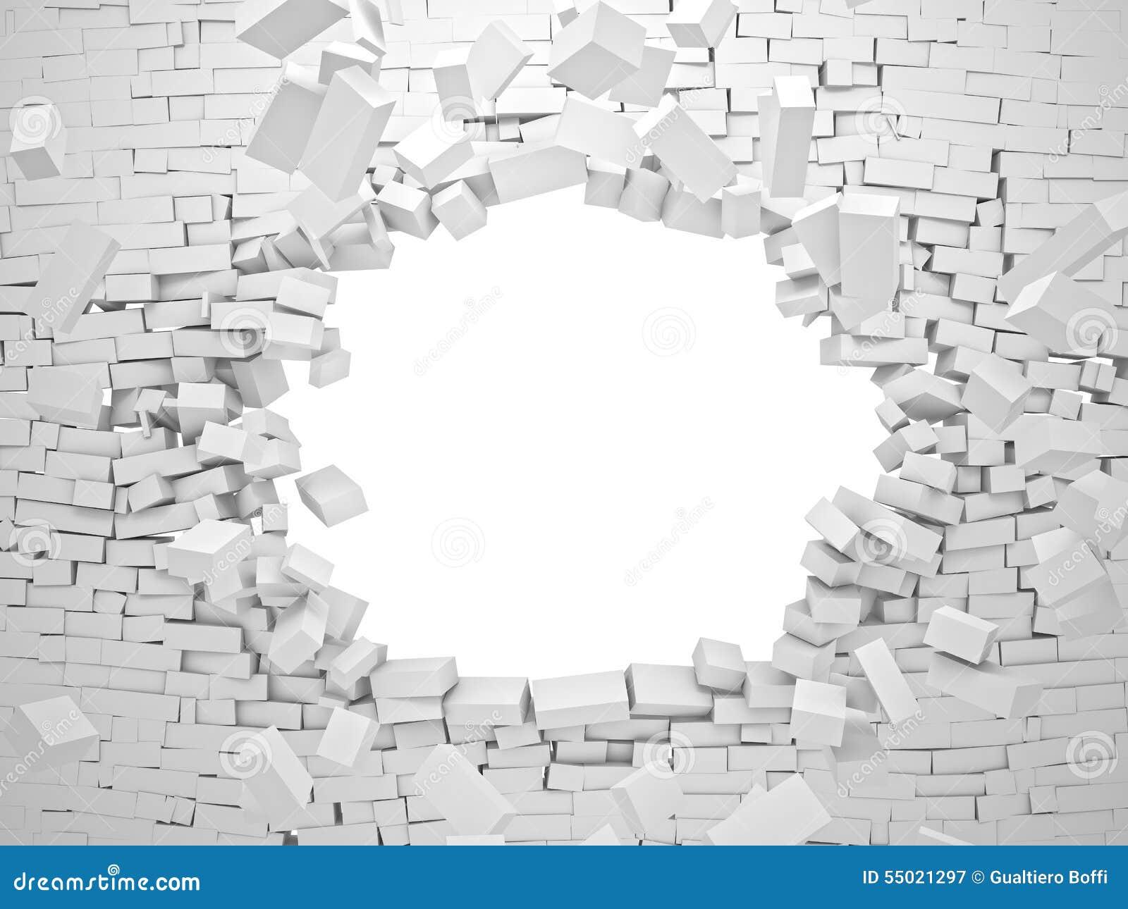 Brechen der Wand