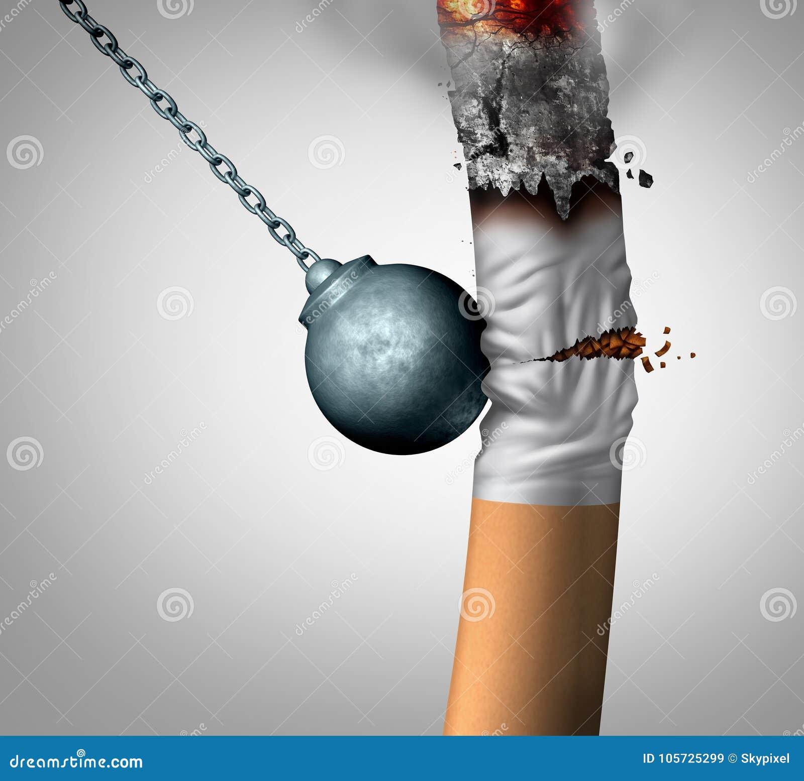 Brechen des Rauchens