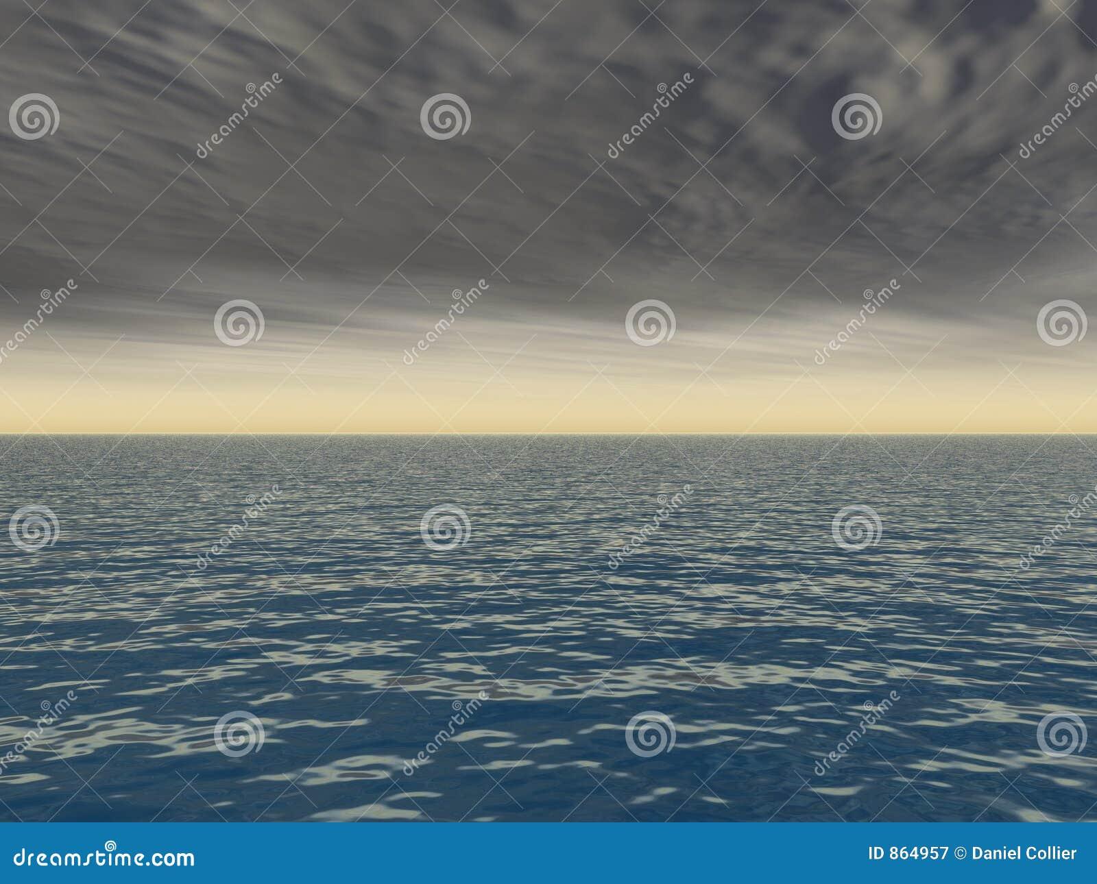 Brechen des Sturms über Meer