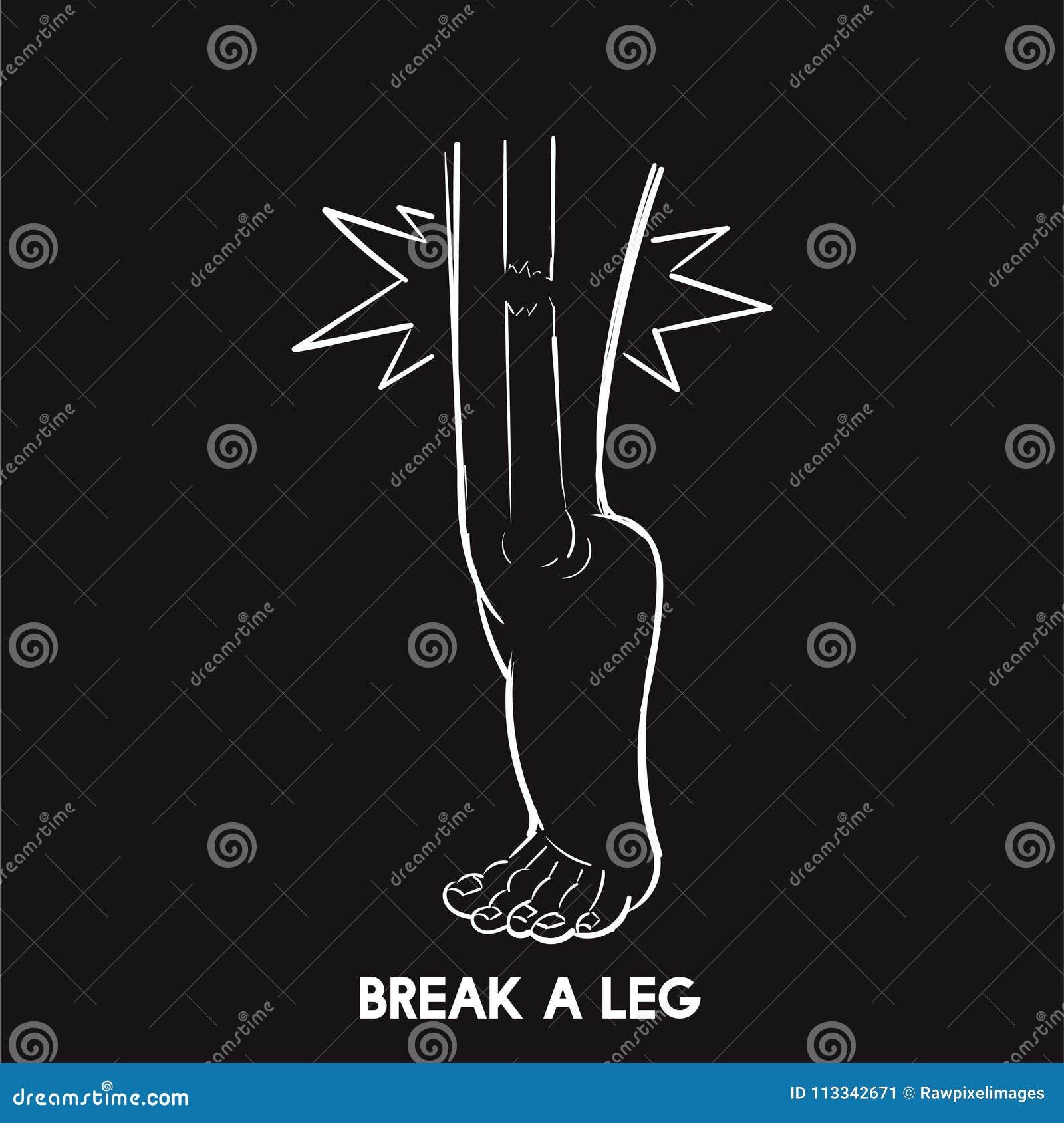 Brechen Sie eine Beinidiomillustration