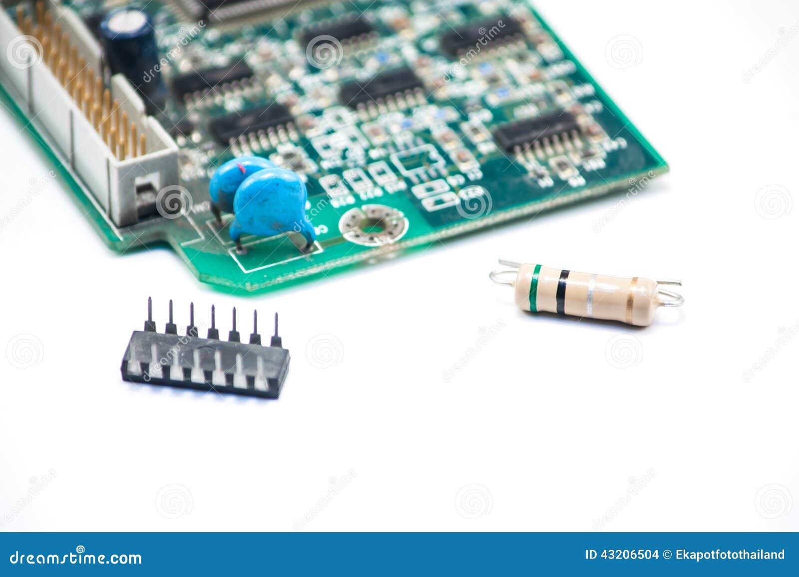 Download Bred elektronik arkivfoto. Bild av strömkrets, modell - 43206504