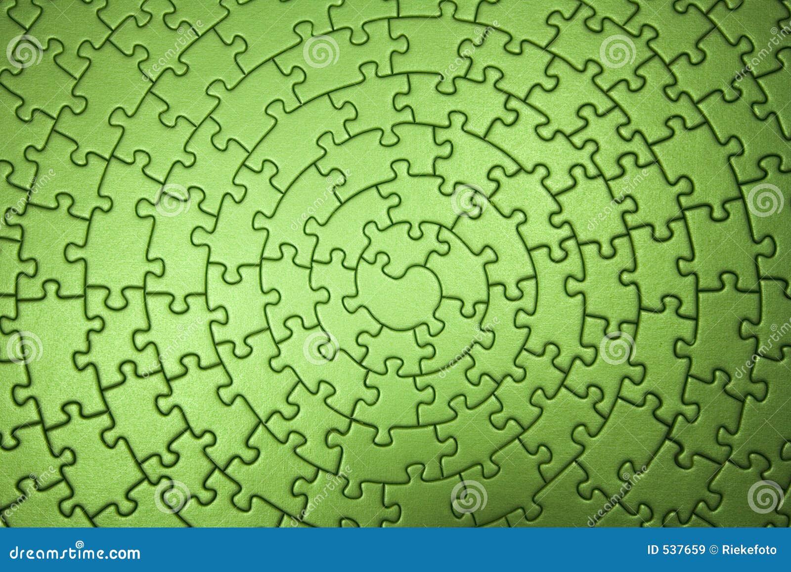 Bred färdig grön jigsaw för vinkel