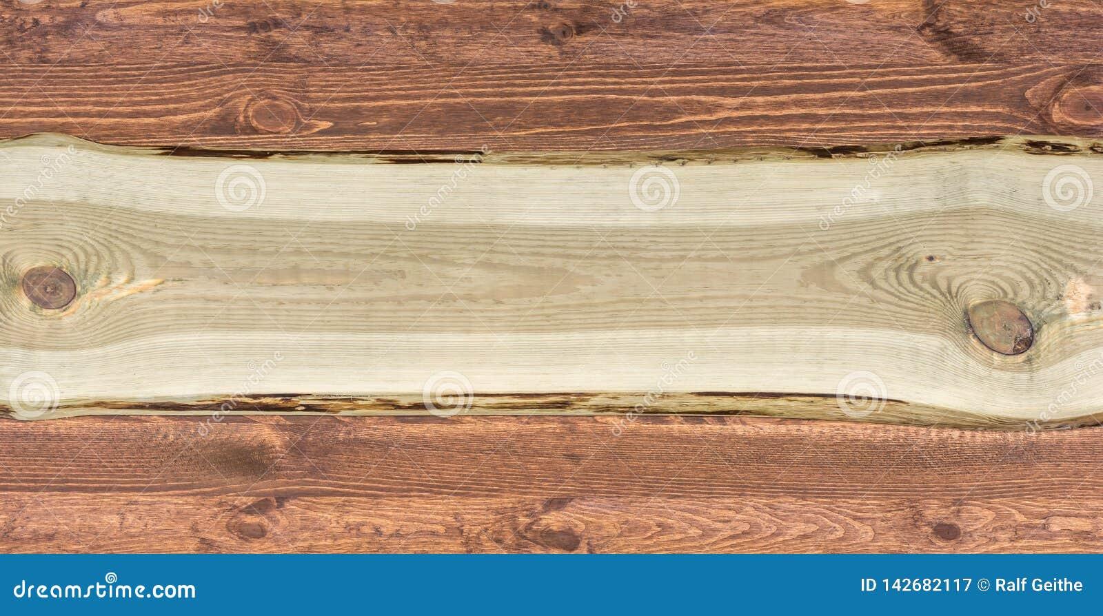 Bred lantlig träbakgrund med kopieringsutrymme för vidareförädling