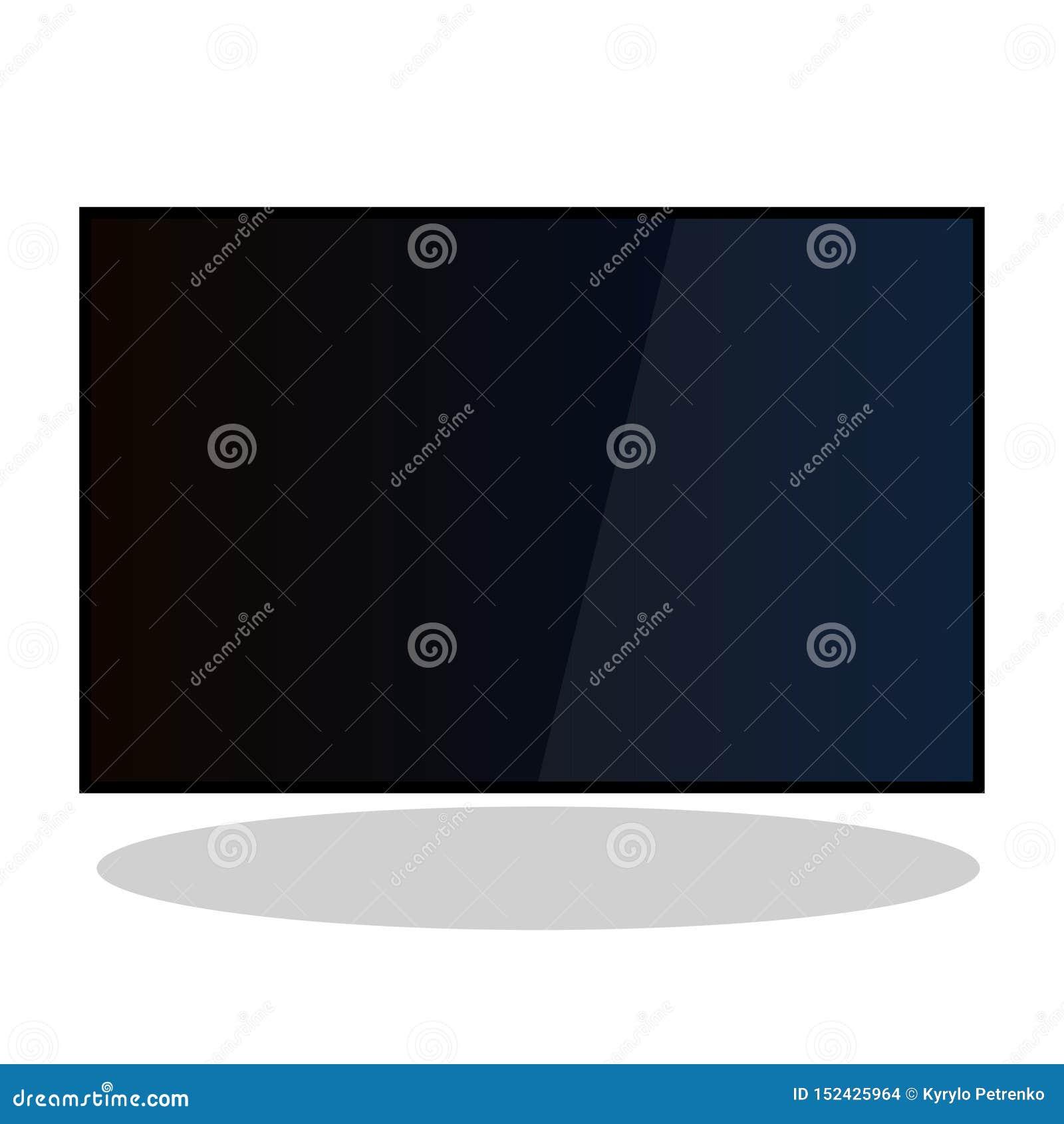 Brede vlakke het plasma4k vector van TV lcd