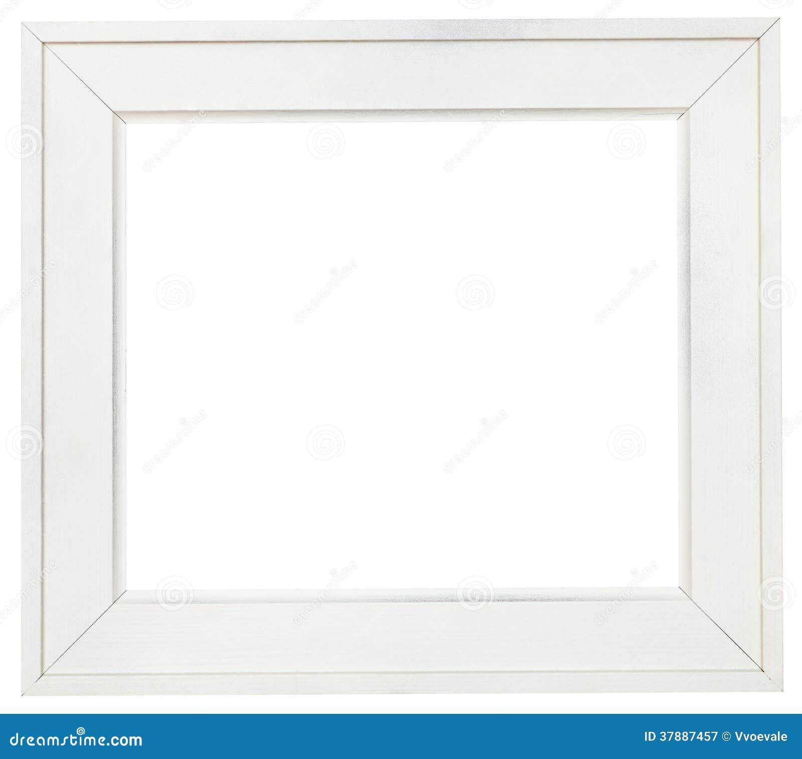 Brede witte houten omlijsting met verwijderd canvas
