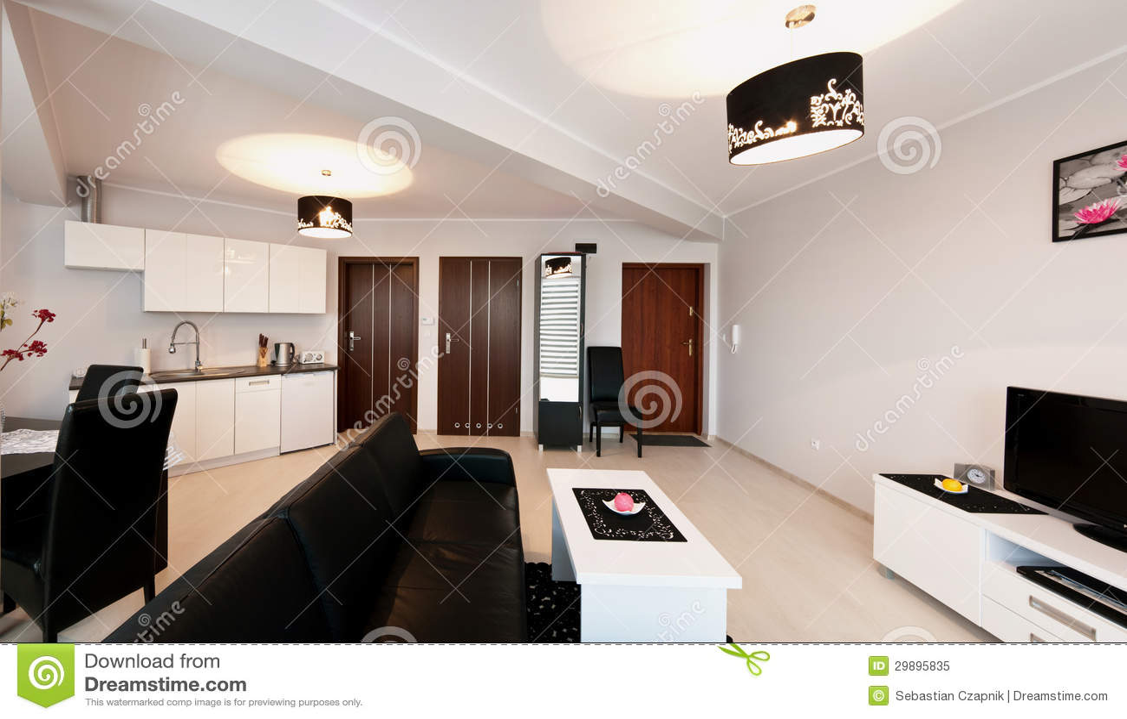 Elegante moderne flatruimte royalty vrije stock foto afbeelding 29895835 - Moderne eettafels ...