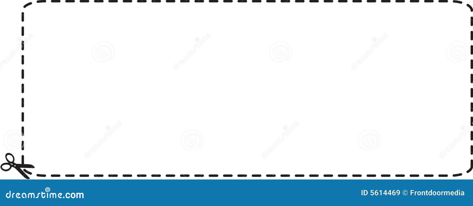 Breite Kupon-Ausschnitts-umreiß
