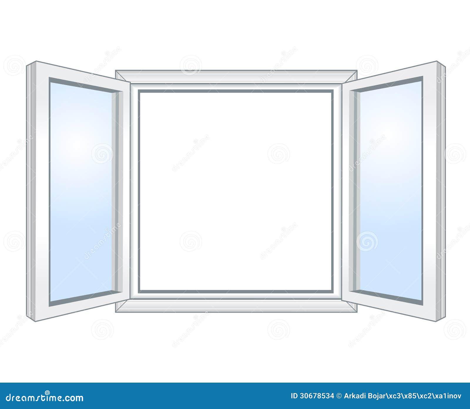 Offenes fenster zeichnen  Ansicht Durch Geöffnetes Fenster Stockbilder - Bild: 32966534