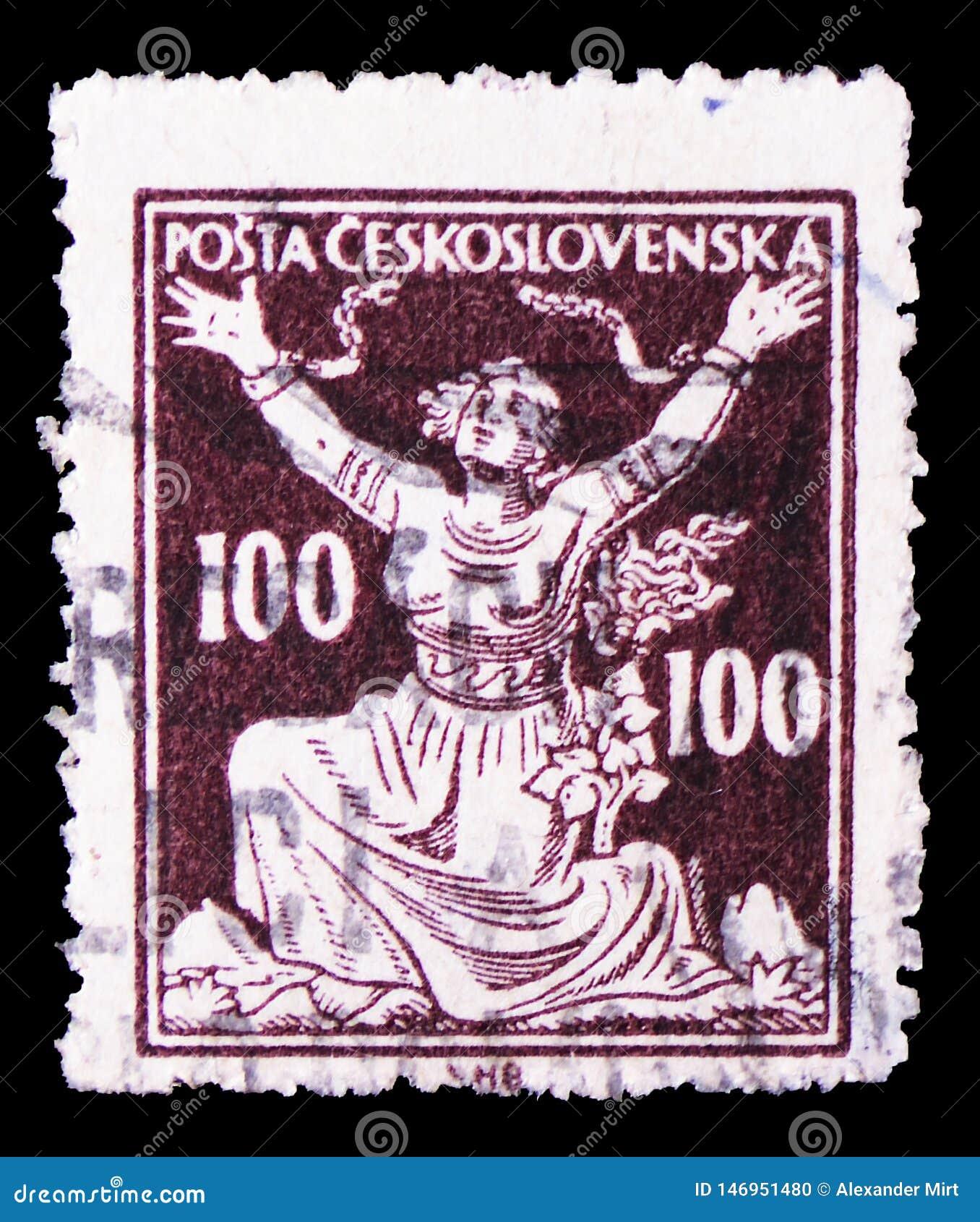 Brekende Kettingen aan Vrijheid, Allegorie van Republiek serie, circa 1920