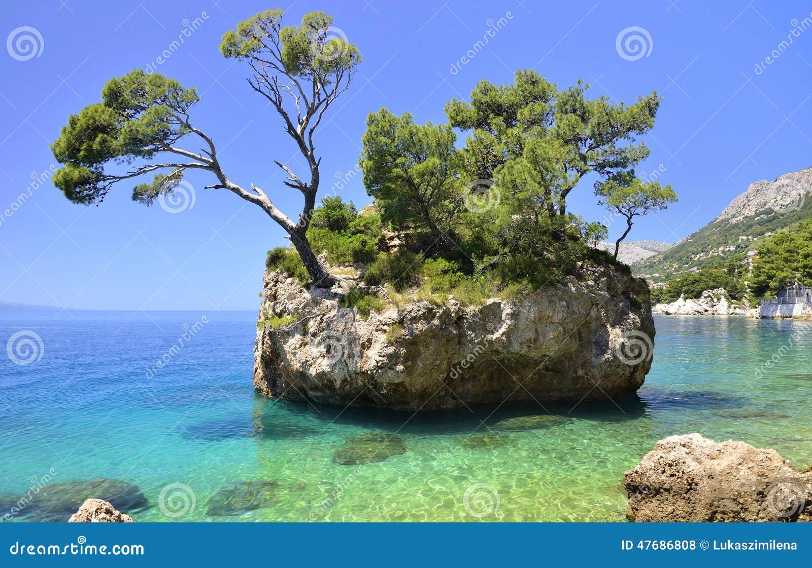 Brela на Makarska Ривьере, Далмации, Хорватии