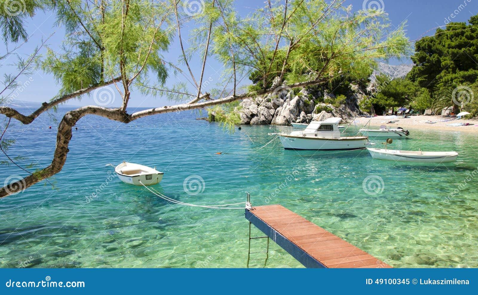 Brela na Makarska Riviera, Dalmatia, Chorwacja