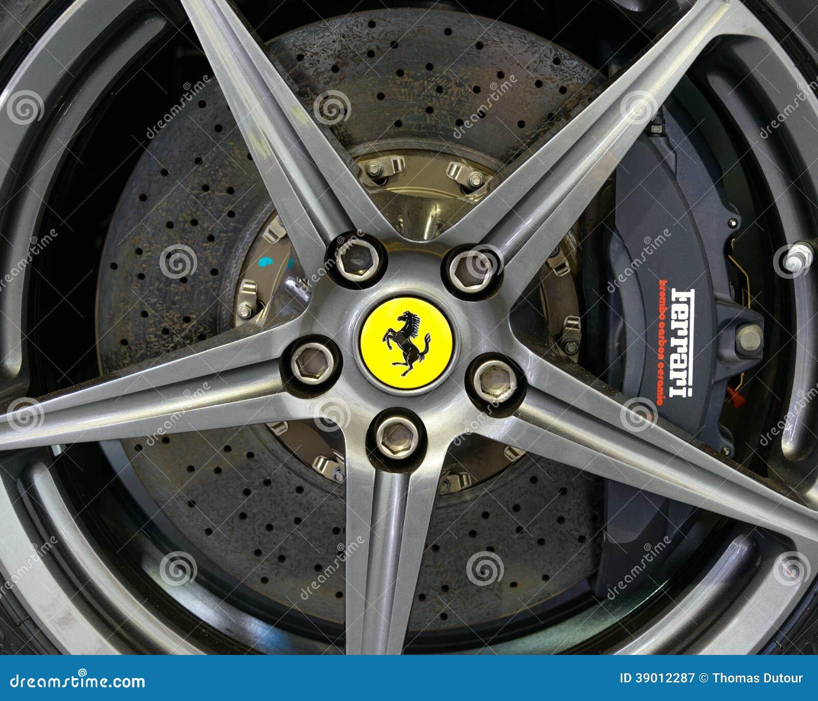 Brembo Carbon Brake On A Ferrari F12 Berlinetta Editorial