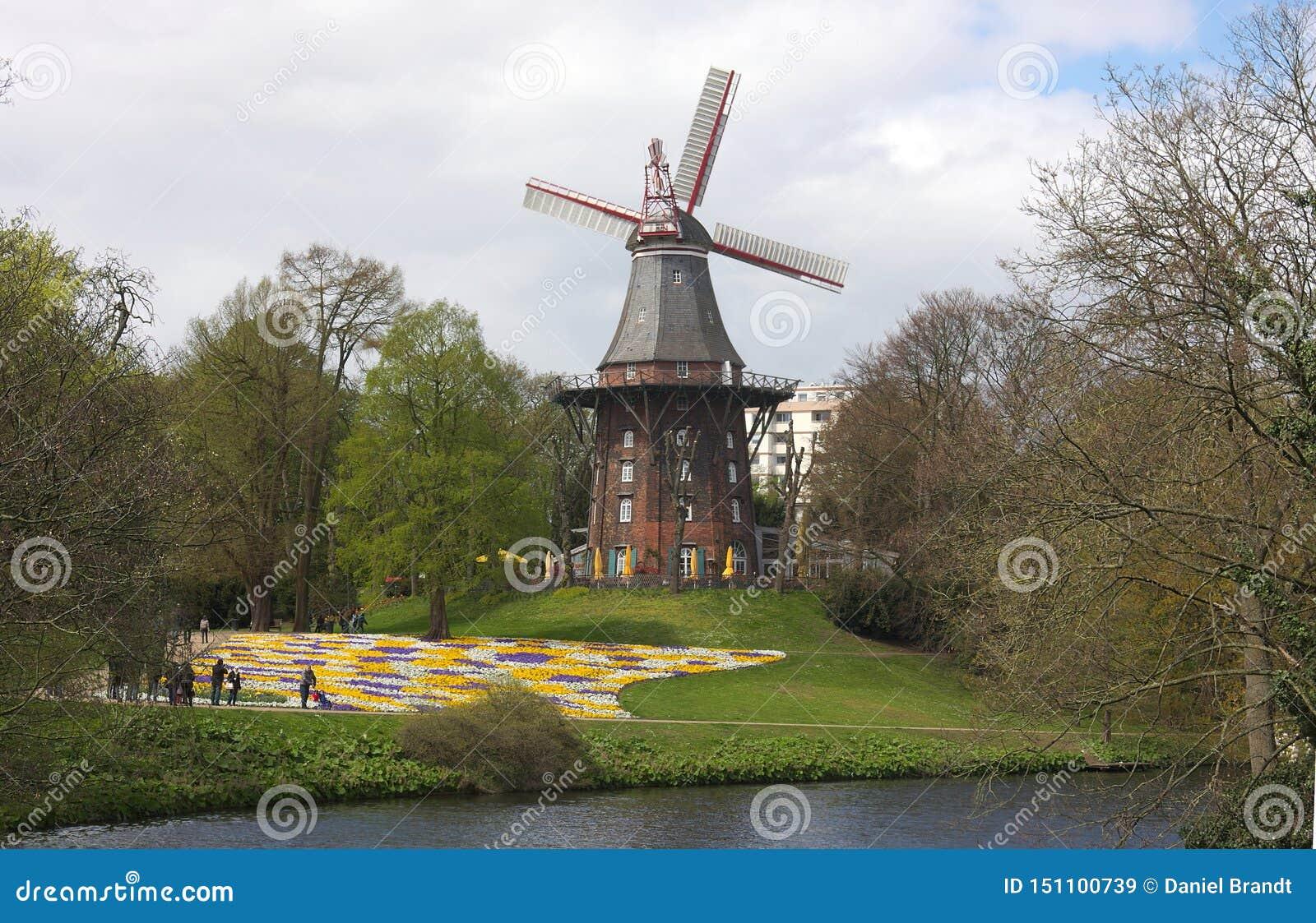 Bremen - väderkvarn på vallar - VI -