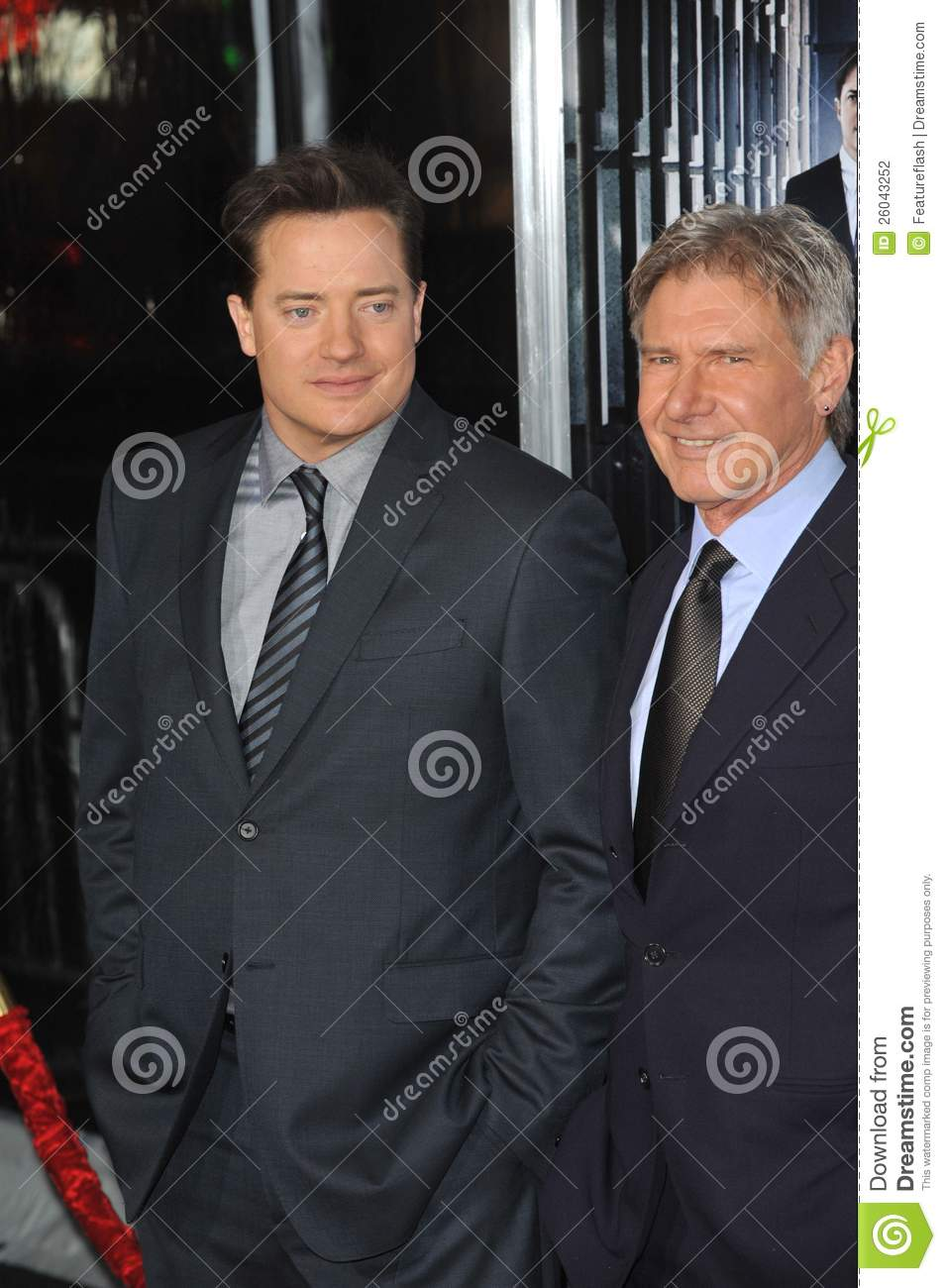 Brendan Fraser,Harrison Ford Editorial Photography - Image